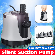 25W 35W 45W 60W Submersible Water Pump 1800-3000L/H 2M Length Aquarium Fish Pond Tank Spout