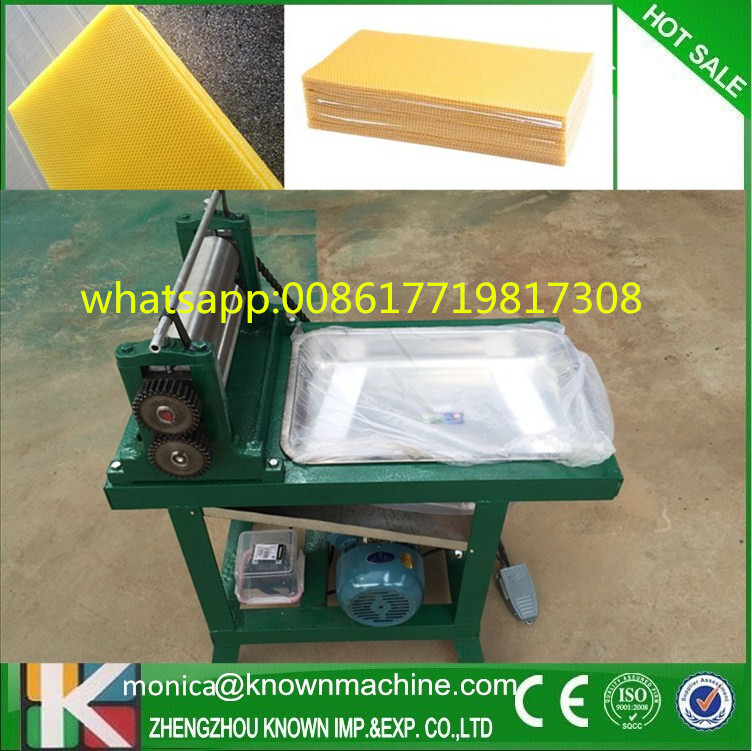 electric beeswax flat sheet making machine with different roller size