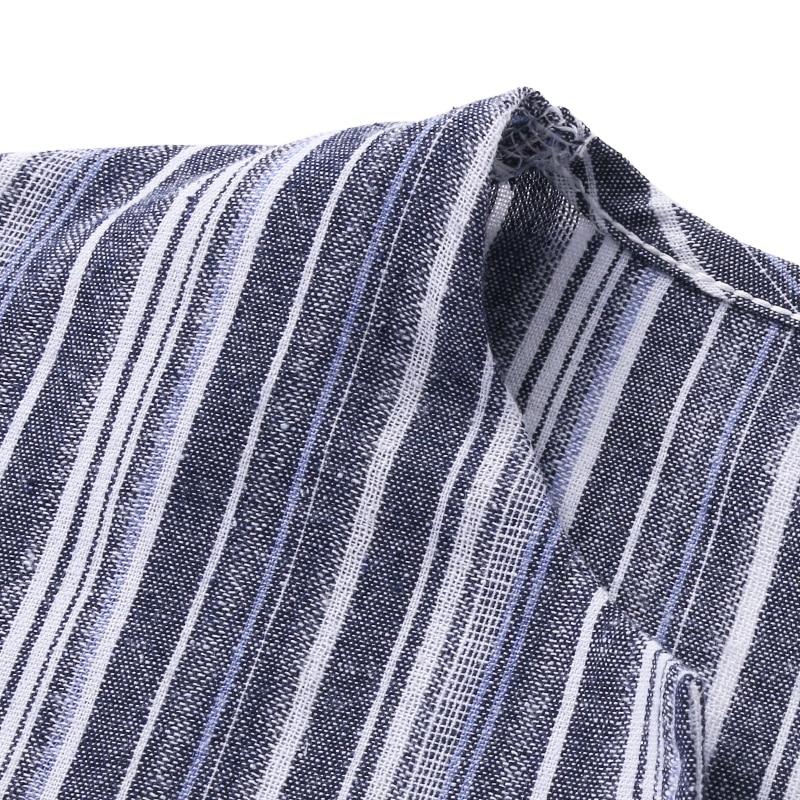 2018 Autumn ZANZEA Women Striped Dress Sexy V Neck Long Sleeve Maxi Long Dresses Vintage Casual Loose Plus Size Vestidos 5