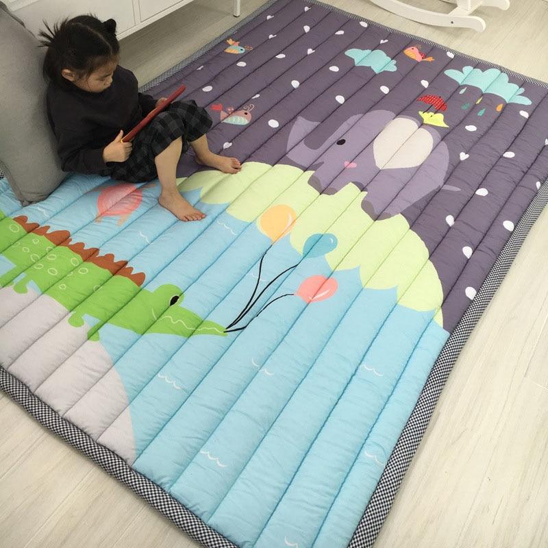 Infantile Brillant Épaississement Bébé tapis de jeu 145x195 CM Non-tapis de glissement Tatami Salon Enfants drone Grand Tapis - 2