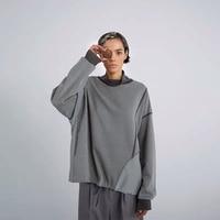 IRINAY089 2019 SS Новая коллекция оригинальный дизайн с длинным рукавом негабаритных водолазка толстовки для женщин