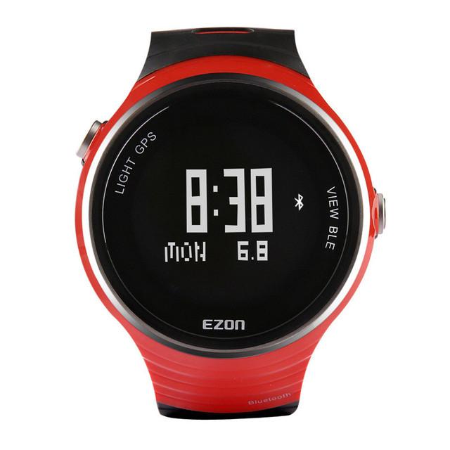 EZON deportes al aire libre GPS reloj inteligente podómetro corriendo hombres impermeable reloj electrónico de múltiples funciones G1 para Android IOS
