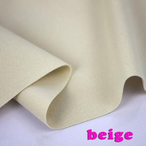 Beige Stretch Spandex Tissu Tricoté Tissu Extensible Jersey Tissu jupe élastique Tissu Bikini Maillots De Bain 60 Par la Cour