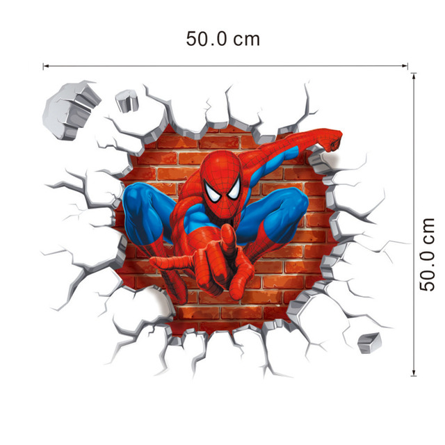 3D Spiderman Wall Stickers for Kids