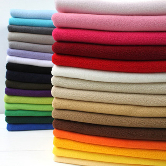100x155cm Knitted Polar Fleece Fabric For Baby Blankets Turquoise Coral Patchwork Polyester Plush Fleece Cloth For Sewing Telas