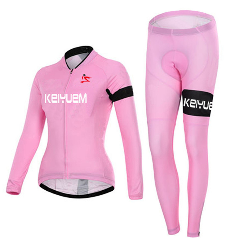2016 Women S Lycra Breathable Winter Pink Thermal Cycling