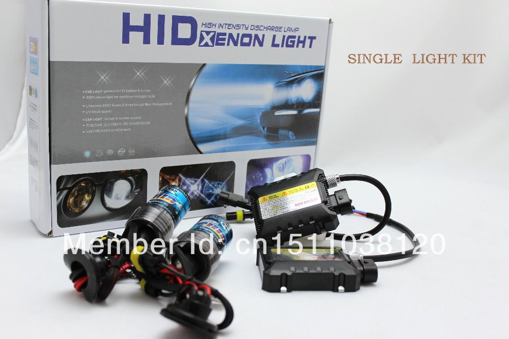 Free shipping new products,12v 35w,SINGLE LIGHT HID XENON KIT,H1,H3,H4,H7,H8,H9,H11,H13,9005,3000K,4300K,6000K,8000K,10000K, купить