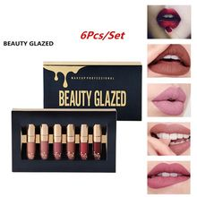 FOCALLURE Long Lasting Sexy Red  Matte Liquid Lipstick Glitter Waterproof Makeup Easy To Wear Lip Gloss Cosmetics