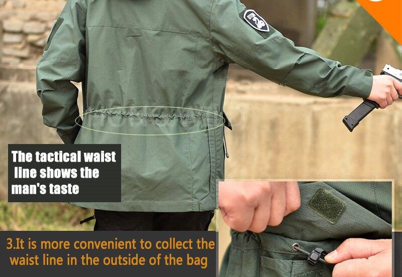 casaco roupas do exército casual tático com