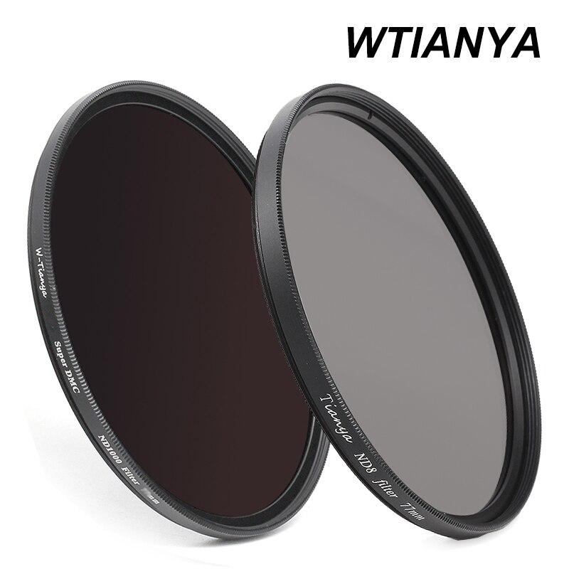 WTINAYA ND 8 ND 1000 ND filtre 77mm pour objectif d'appareil photo numérique (ND8 0.9 + ND1000 3.0 densité neutre + capuchon d'objectif)-in Caméra Filtres from Electronique    1