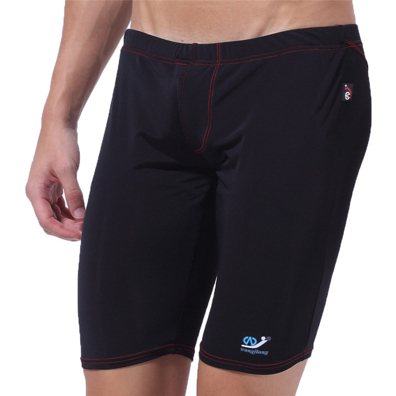 Men Swimwear Pants Short Classic Snowshine3 YLW Long-Racing