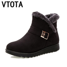 VTOTA Winter Women Snow Boots Warm Winter Boots Botas Mujer Ankle Boots For Women Fur Platform Wedges Boots Mother Shoes H154 zorssar 2018 new arrival warm plush snow boots women ankle boots high heel wedges platform boots autumn winter women shoes