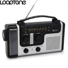 Looptone Открытый Солнечный fm/am радио встроенный динамик поддерживают аварийные Flashligh настольная лампа термометр и телефон зарядное устройство