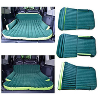 SUV Dedicated Mobile Cushion Extended Travel Mattress Air Bed Inflatable Thicker Back Seat Flocking Lathe Green