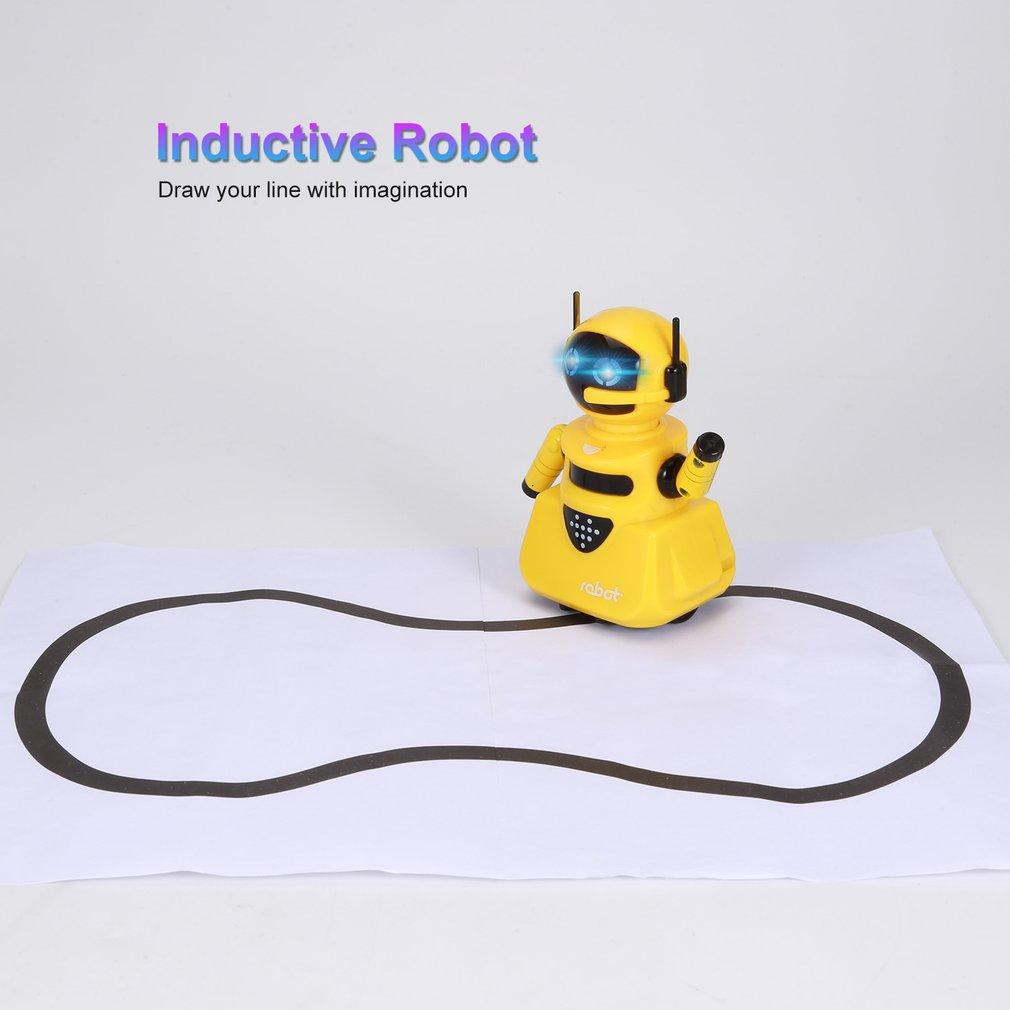 Inteligencia Mágica Pista Inductivo Modelo De Robot Siguientes Por Línea Dibujar Mini Vehículo Desarrollo De La Inteligencia De Juguetes De Los Niños Aliviar El Reumatismo