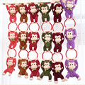 3pcs/string cute colorful plush monkey toy,arms hang each,funny Christmas birthday gift for friends kids children girls boys