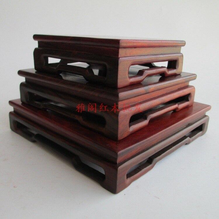 Séquoia artisanat bois rouge socle socle pierre ornements théière dessous de verre siège support inférieur