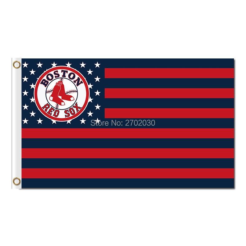 Paese Dell'america Boston Red Sox Bandiera Fans Squadra di Baseball Personalizzata Banner Major League Baseball Bandiere Bandiera 3x5 Ft