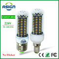 LED Bulbs Real No Flicker/Strobe Smart Power IC Design LED Corn Bulb High Lumen 4014 SMD E27 E14 220V 38-140 LEDs LED Spot light