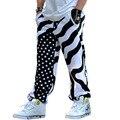 Мужские лишен и звезда хип-хоп хлопок рок панк мешковатые штаны уличной танцевальной брюки свободные бегуны