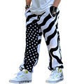 Mens stripped and star hip-hop rock cotton punk baggy pants streetwear dance trousers loose joggers