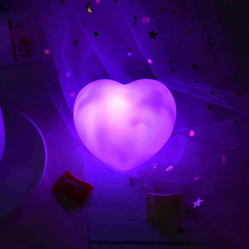 High Quality Bed Lamp Heart Shape 110-220V Reading Light Auto LED Light Switch Button Cell Bedroom Night Lights Light