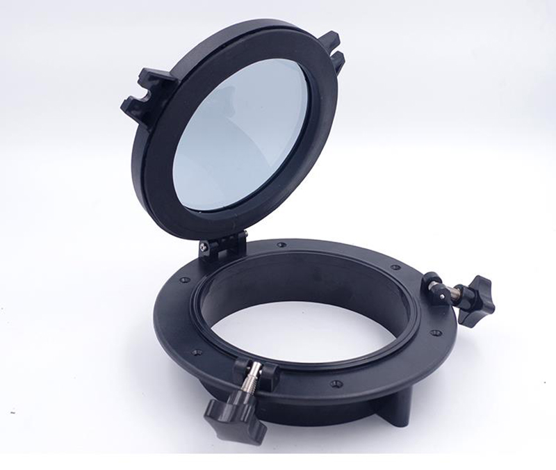 10 Round Porthole Window with ABS Plastic Tempered Glass for Boat Yacht Marine Applications