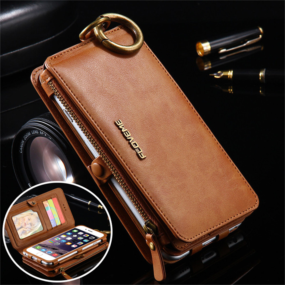 Floveme Leather Cases for iphone X 8 7 6 6S Plus 5 5S SE Luxury Wallet Cover for Samsung Galaxy S9 S8 S7 S6 Edge Note 8 5 Coque