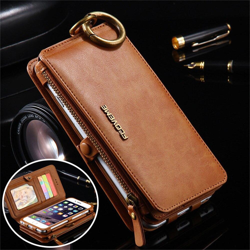 bilder für Floveme Marke Ledertasche für Iphone 7 Geschäfts Luxury Multifunktions Schlag-standplatz-mappen-abdeckungs-fall Coque Handytasche mit Kartenhalter