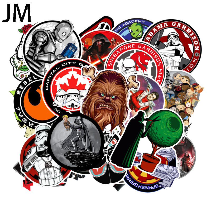 100Pcs/Set New Super Cool Star Wars Stickers For Luggage Laptop Decal Skateboard Stickers Car Refrigerator Wallpaper