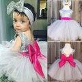 2016 Bebés Infantiles Cabritos Del Vestido de Fiesta de La Boda Vestidos de Los Niños Ropa vestido de festa infantil menina
