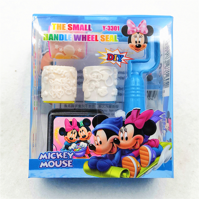 Mickey Minnie Mouse Rubber Stamp Kids Birthday Party Supplies For Kid DIY Scrapbooking Decorative Cartoon Seal Stamper Favor Set