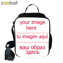 Customize Your Image Logo Lunch Bag for Women Kids Men Thermal Insulated Picnic Carry Case Portable Student Food Storage Bags