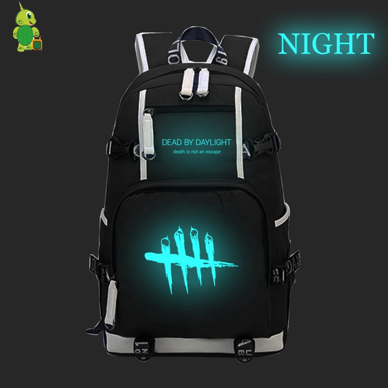 Hot Dead By Daylight Luminous Backpack Canvas School Bags For Teens Men Women Travel Rucksack Large Capacity Laptop Backpack