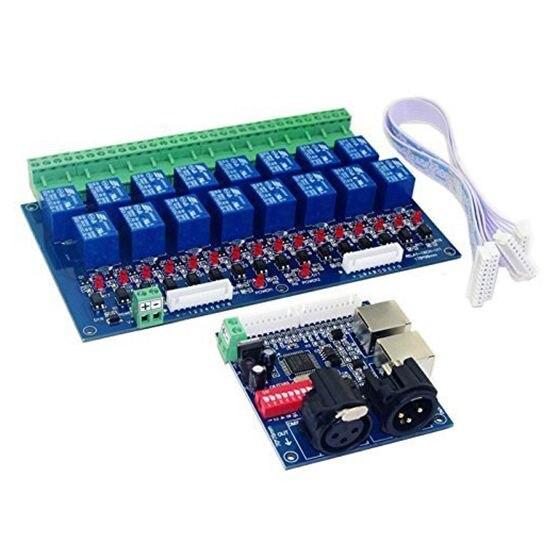 16 канала DMX контроллер реле диммер Kit 16 способ реле DJ оборудование