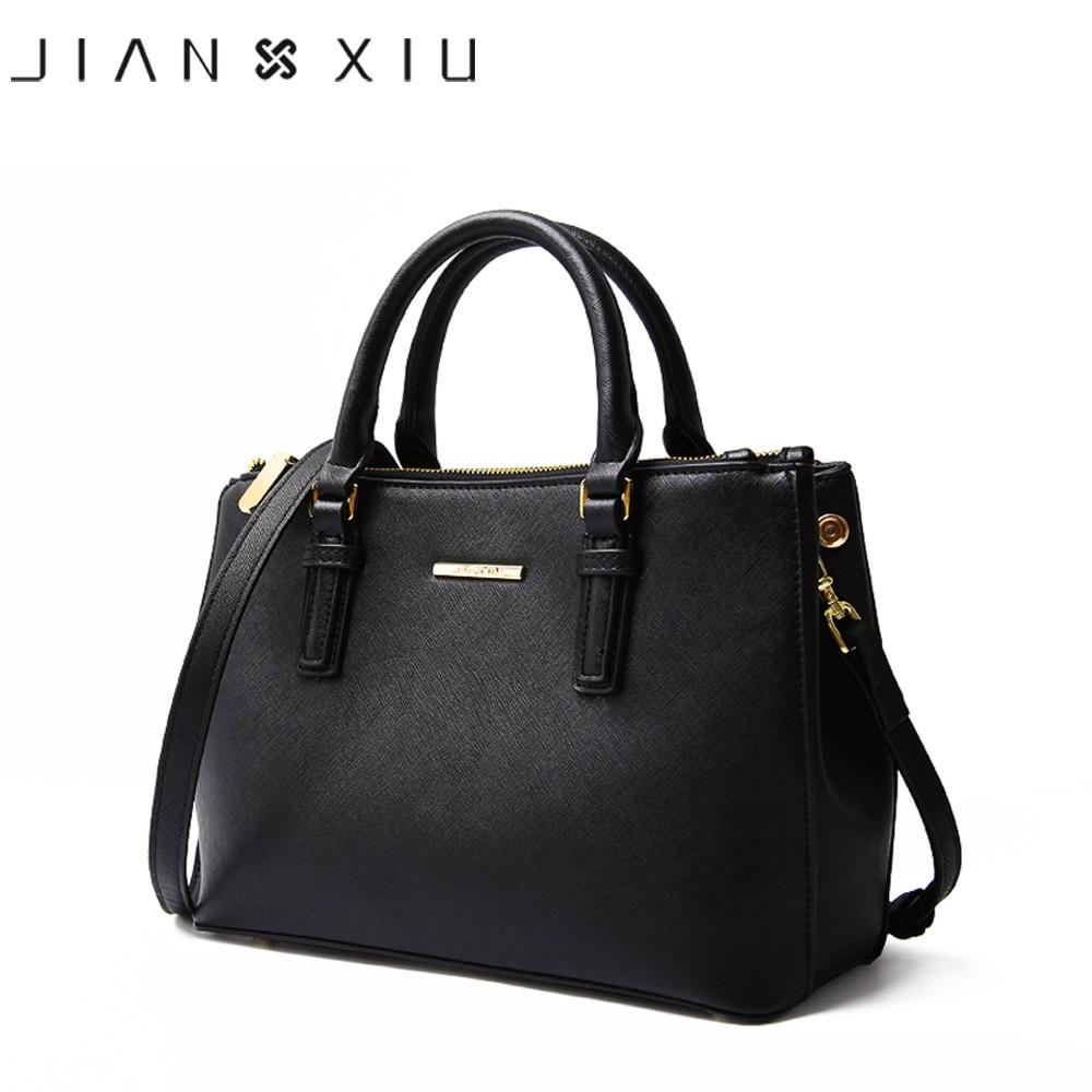 JIANXIU Brand Genuine Leather Handbag Luxury Handbags Women Bags Designer High Quality Cross Texture Tote Female Shoulder Bag