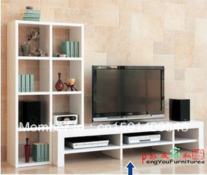 Family New Specials Ikea Style Bookcase Bookshelf Audio Visual Cabinet TV Ark Combination