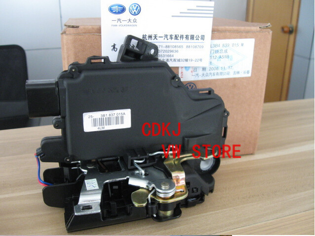 OEM VW Front Left Dirver Side Door Lock Unit Module For  Passat B5 Golf 4 MK4 Jetta MK4 Bora 3B1 837 015A