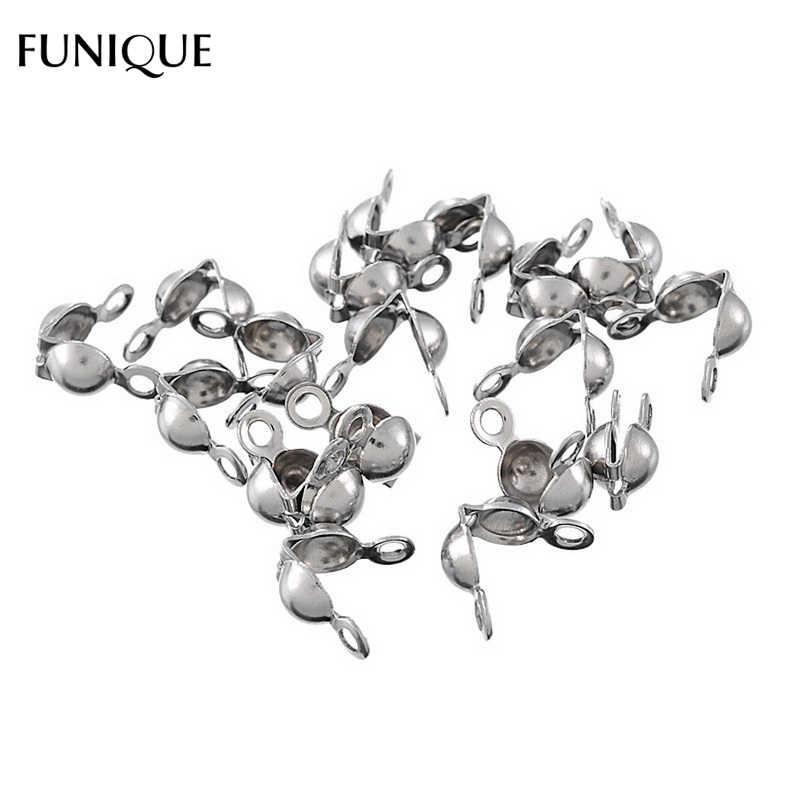FUNIQUE Claps ผลการค้นหาเครื่องประดับ 50PCs Silver Tone สแตนเลสสตีลลูกปัด Clasps ลูกปัดตะขอสำหรับสร้อยข้อมือและสร้อยคอ 7.7x7.4 มม.