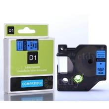 Фотография CIDY 20Pcs Black on Blue 40916 9mm*8m label tapes for dymo label printers free shipment