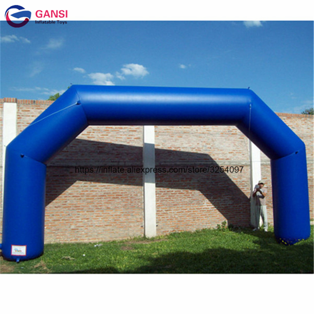 Durable 0.4mm PVC inflatable finish line arch with customized logo inflatable advertising arch free blower inflatable arch inflatable cube advertising helium balloon with 4 sides printing with blower