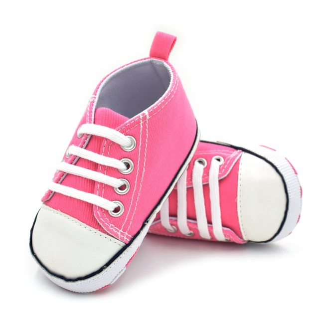 Classic Canvas Newborn Baby Boys Girls First Walkers Toddler Soft Sole Anti-slip Shoes | Happy Baby Mama