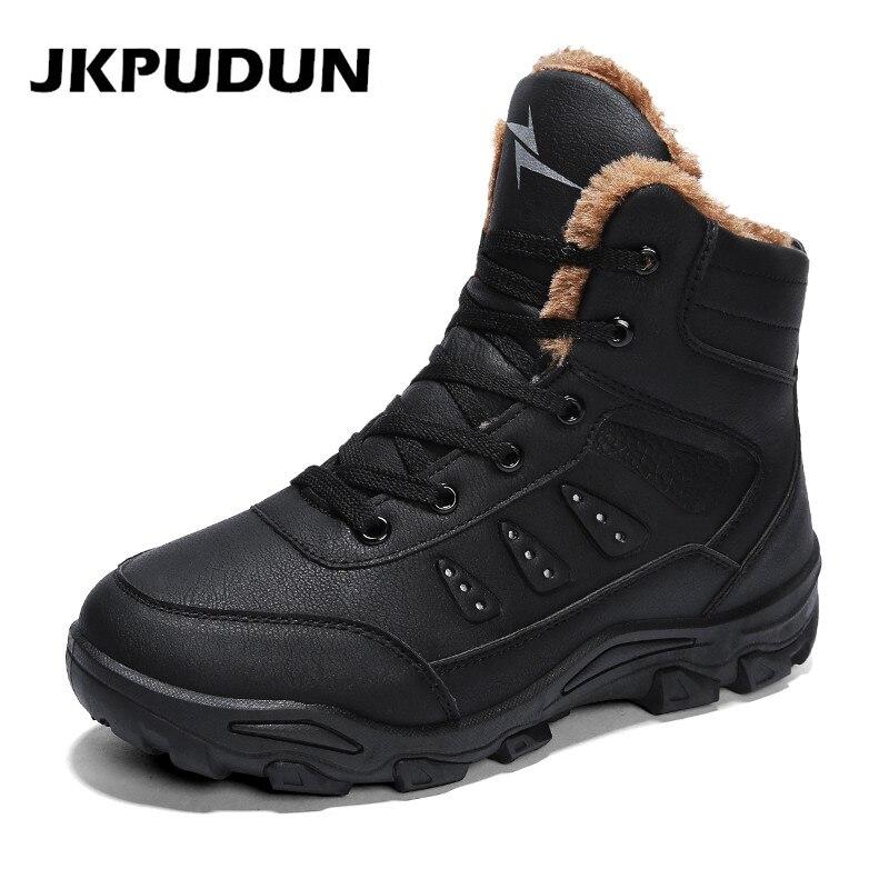 € 18.88 42% de DESCUENTO JKPUDUN Keep Warm Snow Botas hombres invierno zapatos casuales cuero impermeable trabajo seguridad hombres botines ejército