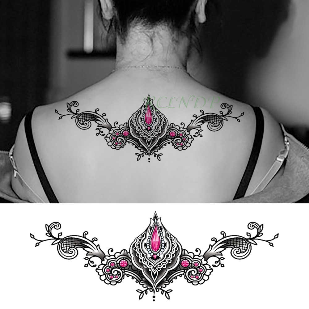 d70665cb0 ... Waterproof Temporary Tattoo Sticker Diamond Crystal Sexy Fake Tatoo  Henna Breast Chest Waist Flash Tatto Body ...
