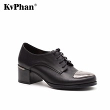 KvPhan Woman pumps Genuine patent leather Black Sheepskin Fashion Lace-Up Hig heels shoes woman Black Bordo Handmade for women