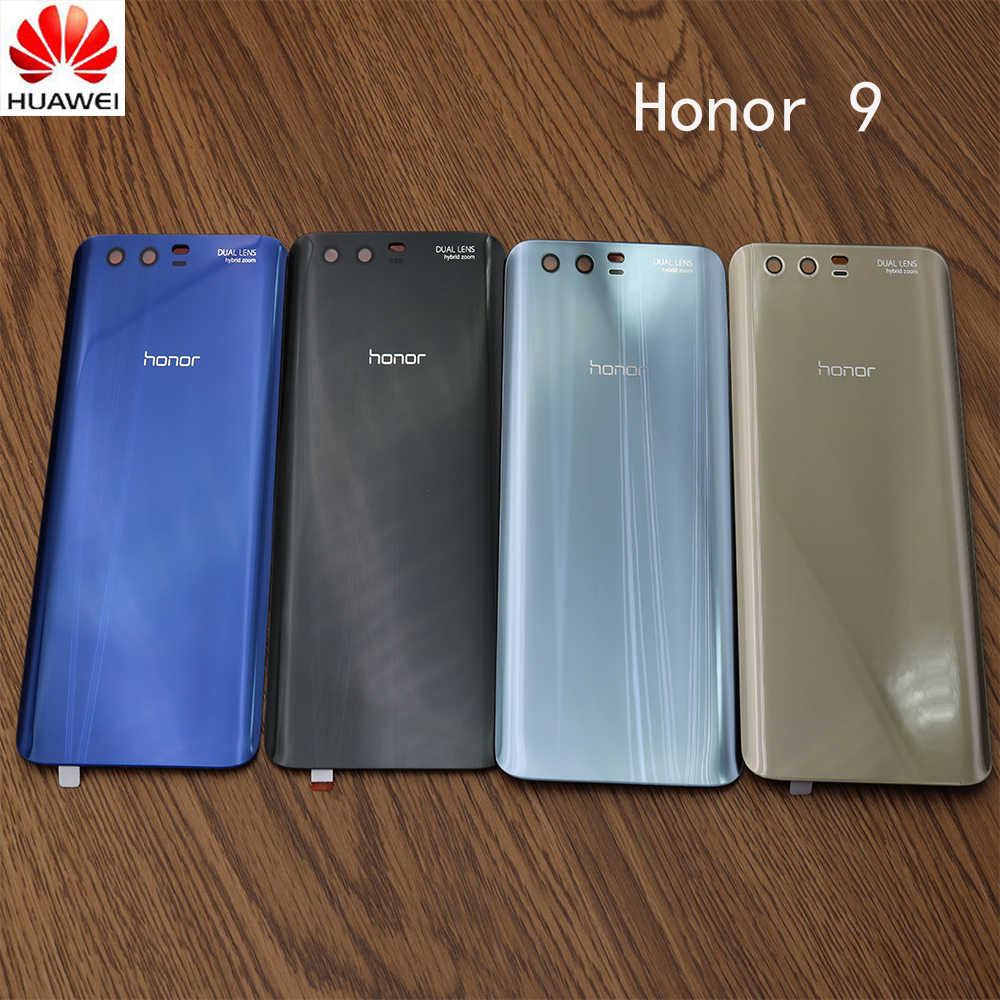 100% Original Brand New Back Cover for Huawei Honor 9 Battery Glass Rear Housing Panel Case repair part with Adhensive sticker