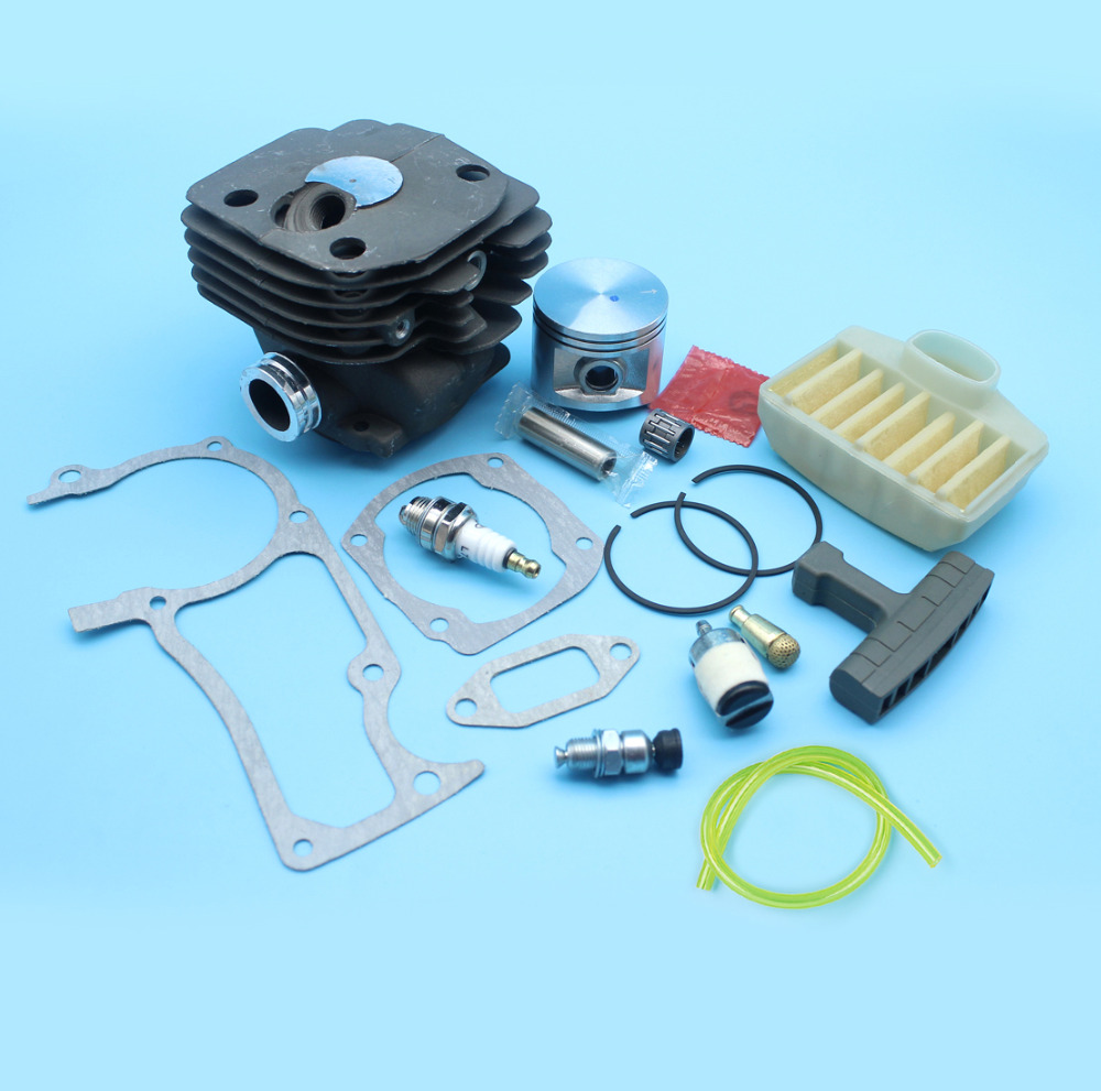 50MM Cylinder Piston Rings Kit W/ Decompression Valve Air Filter Gasket Set fit HUSQVARNA 365 362 371 372 372XP 371K Chainsaws все цены