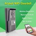 Alybell poe onvif wifi interfono hd megapíxeles de visión nocturna motion detección a prueba de manipulaciones ethernet remoto cámara de vídeo timbre de la puerta
