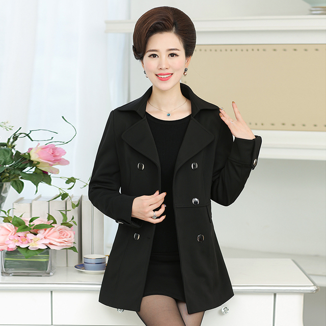 5XL High quality Plus size Double Breasted Slim spring women Trench 2017 new fashion  multicolor double breasted ladies female