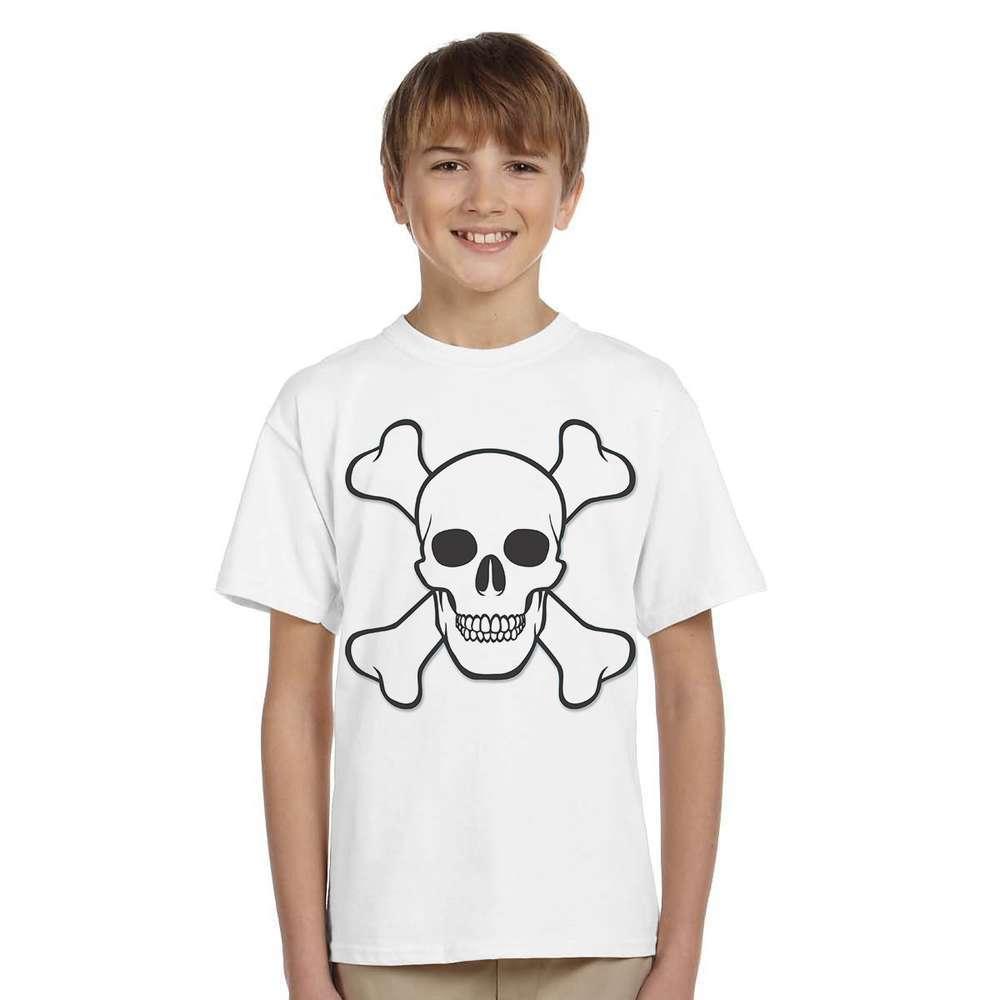 MRKONG 2017 Summer Kids T Shirts SKULL PIRATE Cotton Boys Tops Short Sleeve Tees T Shirt Children Undershirt